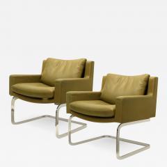 Robert Haussmann Pair of Executive Armchairs and Hocker by Robert Haussmann for the Sede - 988041