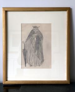 Robert Henri Framed Figurative Drawing by Robert Henri Ashcan School - 1631134