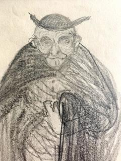 Robert Henri Framed Figurative Drawing by Robert Henri Ashcan School - 1631136