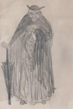 Robert Henri Framed Figurative Drawing by Robert Henri Ashcan School - 1631243