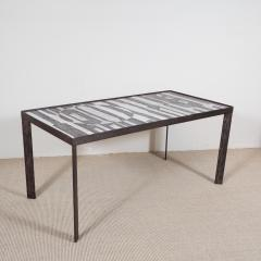 Robert Jean Cloutier Ceramic Black and White Design Low Table by Cloutier France c 1960s - 282612