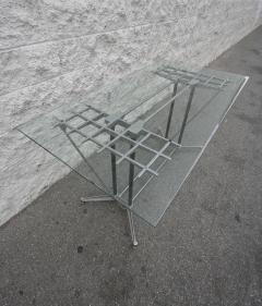 Robert Josten Robert Josten 1970s Metal Grid and Glass Desk with Wood Chair - 328106