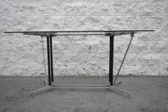Robert Josten Robert Josten 1970s Metal Grid and Glass Desk with Wood Chair - 328107
