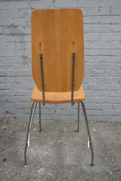Robert Josten Robert Josten 1970s Metal Grid and Glass Desk with Wood Chair - 328108