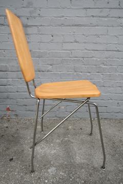 Robert Josten Robert Josten 1970s Metal Grid and Glass Desk with Wood Chair - 328109