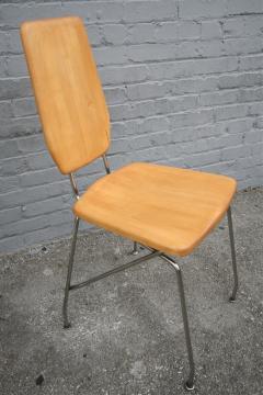 Robert Josten Robert Josten 1970s Metal Grid and Glass Desk with Wood Chair - 328110