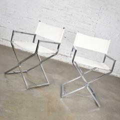 Robert Kjer Jakobsen MCM campaign style directors chairs white chrome - 1588581