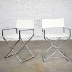 Robert Kjer Jakobsen MCM campaign style directors chairs white chrome - 1588582