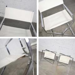 Robert Kjer Jakobsen MCM campaign style directors chairs white chrome - 1588584