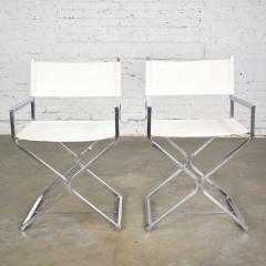 Robert Kjer Jakobsen MCM campaign style directors chairs white chrome - 1588585