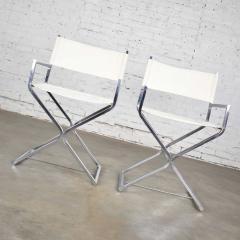 Robert Kjer Jakobsen MCM campaign style directors chairs white chrome - 1588618