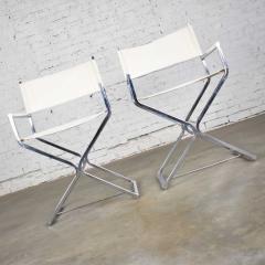 Robert Kjer Jakobsen MCM campaign style directors chairs white chrome - 1588623
