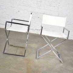 Robert Kjer Jakobsen MCM campaign style directors chairs white chrome - 1588624