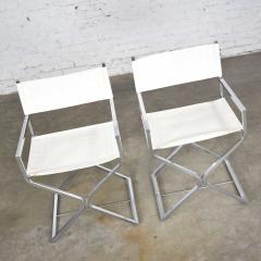 Robert Kjer Jakobsen MCM campaign style directors chairs white chrome - 1588626