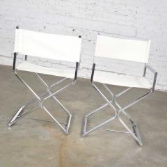 Robert Kjer Jakobsen MCM campaign style directors chairs white chrome - 1588627