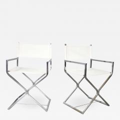 Robert Kjer Jakobsen MCM campaign style directors chairs white chrome - 1590112