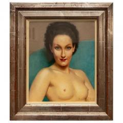 Robert Louis Raymond Duflos Pastel Portrait Female Nude - 975978