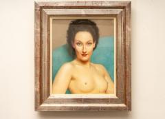 Robert Louis Raymond Duflos Pastel Portrait Female Nude - 975979