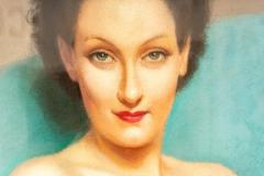 Robert Louis Raymond Duflos Pastel Portrait Female Nude - 975980