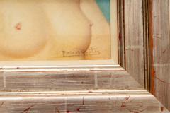 Robert Louis Raymond Duflos Pastel Portrait Female Nude - 975981