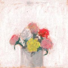 Robert M Kulicke Red Pink Yellow and White Flowers in a Vase Against a White Background 1962 - 183552