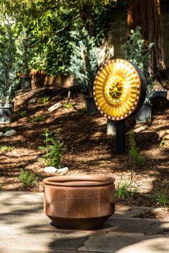 Robert Maxwell Monumental Robert Maxwell David Cressey Sunburst Planter for Earthgender - 1340198