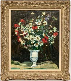Robert Mendoze Still Life Bouquet De Fleurs Champs - 1115390