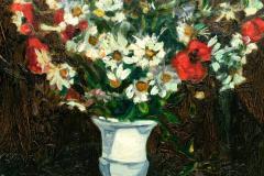 Robert Mendoze Still Life Bouquet De Fleurs Champs - 1115391