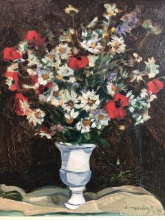 Robert Mendoze Still Life Bouquet De Fleurs Champs - 1126633