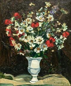 Robert Mendoze Still Life Bouquet De Fleurs Champs - 1127122
