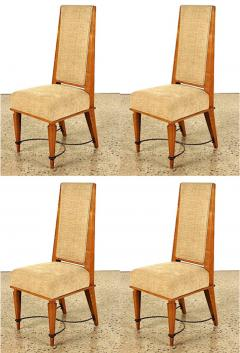 Robert Paveau Robert Paveau documented set of 4 chicest high back chairs - 1477425