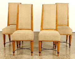 Robert Paveau Robert Paveau documented set of 4 chicest high back chairs - 1477439