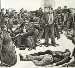Robert Riggs New York City Police Fortune Magazine Illustration - 1188347