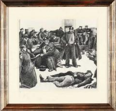Robert Riggs New York City Police Fortune Magazine Illustration - 1188348