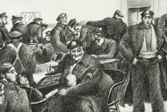 Robert Riggs New York City Police Fortune Magazine Illustration - 1188349
