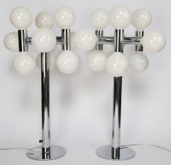 Robert Sonneman Bold 1970s Pair of Robert Sonneman Chrome Table Lamps - 696139