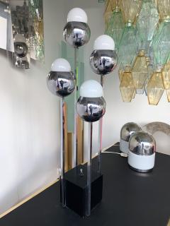 Robert Sonneman Chrome Metal Ball Lamp by Robert Sonneman USA 1970s - 944688