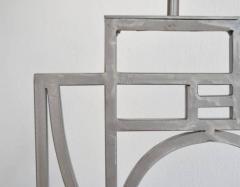 Robert Sonneman Pair of Postmodern Geometrical Form Table Lamps - 635292