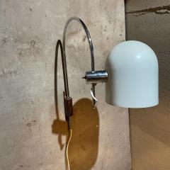 Robert Sonneman Sonneman Lighting Robert Sonneman Curvy Chrome Orbiter Wall Sconce Walnut Wall Mount 1960s - 2087532
