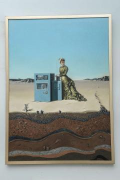Robert Springfels Oil on Canvas Desert Landscape with Woman Computer Robert Springfels 1970 - 350405