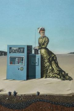 Robert Springfels Oil on Canvas Desert Landscape with Woman Computer Robert Springfels 1970 - 350406