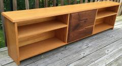 Robert Whitley White Oak and Black Walnut Low Shelf by Robert Whitley - 656871