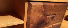 Robert Whitley White Oak and Black Walnut Low Shelf by Robert Whitley - 656873