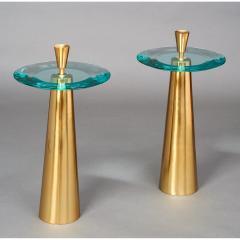 Roberto Giulio Rida Limited Edition Pair of Roberto Rida Glass Side Tables - 324654