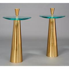 Roberto Giulio Rida Limited Edition Pair of Roberto Rida Glass Side Tables - 324658