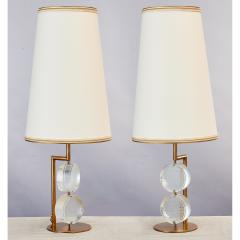 Roberto Giulio Rida Pair of Limited Edition Etched Glass Lamps - 282644