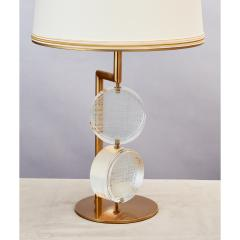 Roberto Giulio Rida Pair of Limited Edition Etched Glass Lamps - 282648