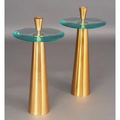 Roberto Giulio Rida Pair of Limited Edition Glass Side Tables - 291581