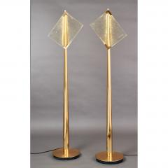 Roberto Giulio Rida Pair of Roberto Rida Floor Lamps with Vintage Venini Glass - 596062