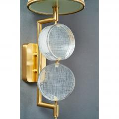 Roberto Giulio Rida Pair of Stunning Glass Sconces by Roberto Rida - 576366